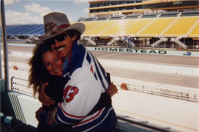 Richard Petty and Laura